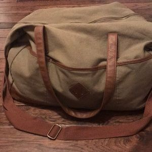 Olive and brown bag